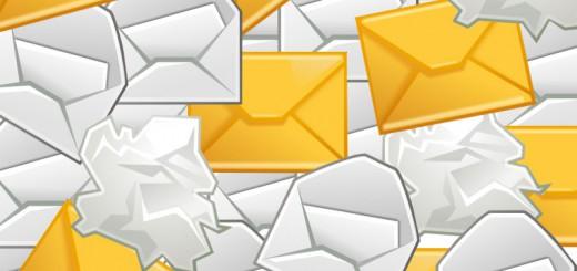 Mailflut? Da bleibt nur noch der Spamfilter. Bild:https://openclipart.org/user-detail/warszawianka undhttps://openclipart.org/user-detail/rg1024
